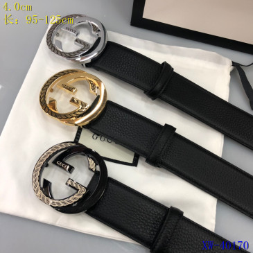 Gucci AAA+ Leather Belts for Men W4cm #9129697