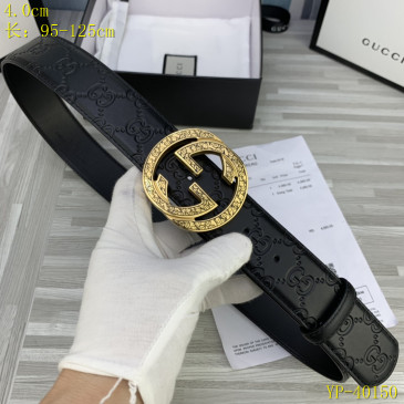Gucci AAA+ Leather Belts for Men W4cm #9129896
