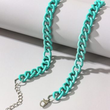 Hip Hop Solid Hollow Out Chain Necklaces