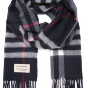 Burberry Men's Scarf Navy blue cashmere #9115986