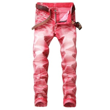 Nostalgic ripped motorcycle jeans Jeans for Men's Long Jeans #99905849