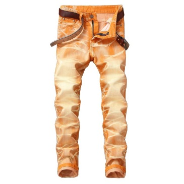 Nostalgic ripped motorcycle jeans Jeans for Men's Long Jeans #99905850