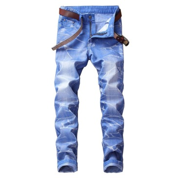 Nostalgic ripped motorcycle jeans Jeans for Men's Long Jeans #99905851
