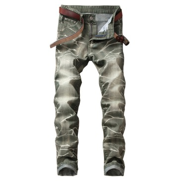 Nostalgic ripped motorcycle jeans Jeans for Men's Long Jeans #99905853