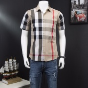 Burberry AAA+ Shorts-Sleeved Shirts for men #818060