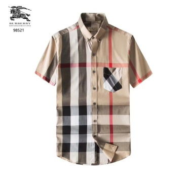 Burberry Shirts for Burberry AAA+ Shorts-Sleeved Shirts for men #9122336