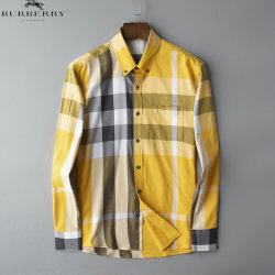 Burberry Shirts for Men's Burberry Long-Sleeved Shirts #9125020