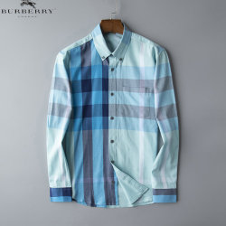 Burberry Shirts for Men's Burberry Long-Sleeved Shirts #9125021