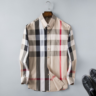 Burberry Shirts for Men's Burberry Long-Sleeved Shirts #954794
