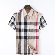 Men's Burberry Shorts-Sleeved Shirts #857960
