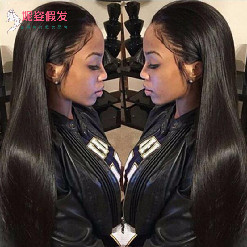 Hot Sale Europe and America wigs women's front lace chemical fiber long curly hair wig set factory spot wholesale #9116447