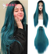New European and American Wigs Women's Front Lace Chemical Fiber Long Straight Hair Wig Manufacturers Spot Wholesale 26 inches #99906985