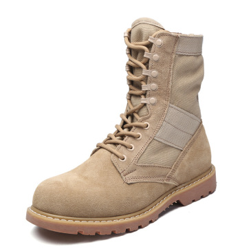 Military boots suede cowboy boots cowhide outdoor boots England Martin boots rhubarb shoes men's tooling #99905241