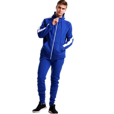 New Plush Contrast Color Striped Athletic Wear