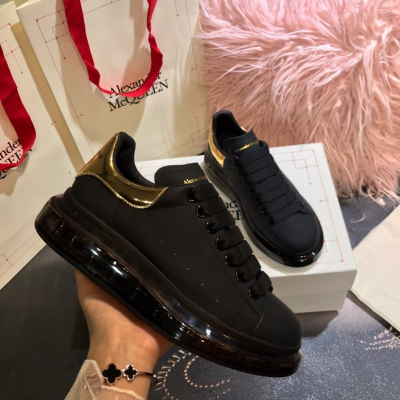 Alexander McQueen 1:1 original quality Shoes for Unisex McQueen Cushioned Sneakers black #9129591