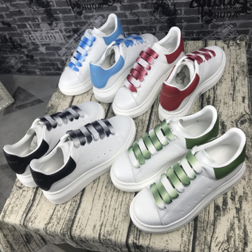McQueen white shoes heavy soled casual couple shoes leather Unisex sneakers #9130744