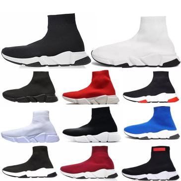 Designer Speed Trainer fashion men women Socks Boots black white blue red glitter Flat mens Trainers Sneakers Runner Casual Shoes #9130733