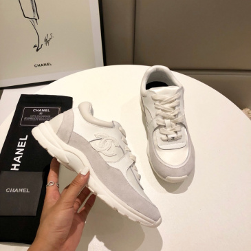 Unisex Ch*nl Sneakers high quality shoes #9122842