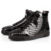 Christian Louboutin designer shoes Studded Spikes triple black red suede leather men women flat bottoms luxury casual shoes fashion Sneakers 36-47 #956071