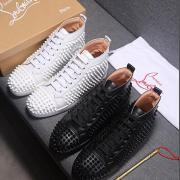 Christian Louboutin Bottom Red Bottoms Studded Spikes CL Mens casual Shoes Sneakers (4 colors) #963398