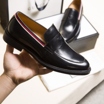 GUCCI Men Leather shoes Gucci Loafers #9130686