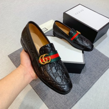 GUCCI Men Leather shoes Gucci Loafers #9130688
