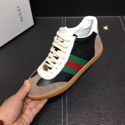 Mens Gucci high Sneakers Leather shoes #9129592