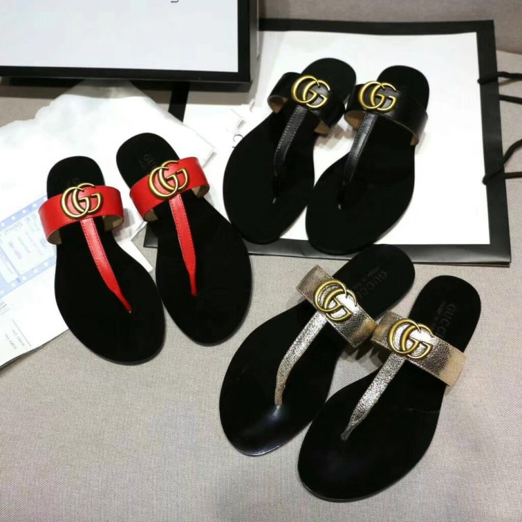 Women's Gucci leather Slippers gucci flip flops #9120220