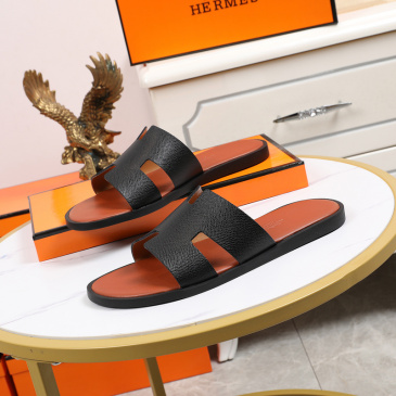 Luxury Hermes Shoes for Men's slippers shoes Hotel Bath slippers Large size 38-45 #9874714