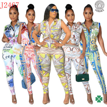 Versace new 2021 tracksuit for women #99906104
