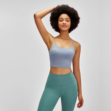merillat halter sexy sports bra with chest pads gather and stereotype fitness camisole #999901195